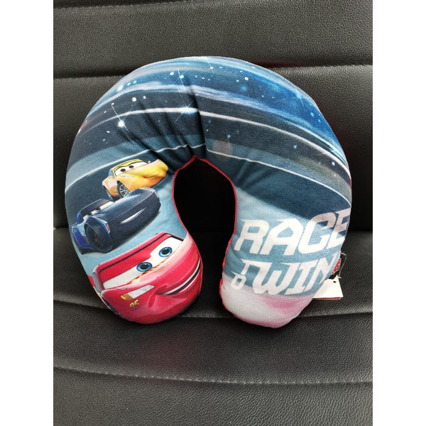 Disney Cars Neck Cushion - Grey Race Win