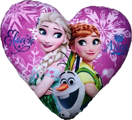 Disney Frozen Heart Shaped Cushion - Violet Purple