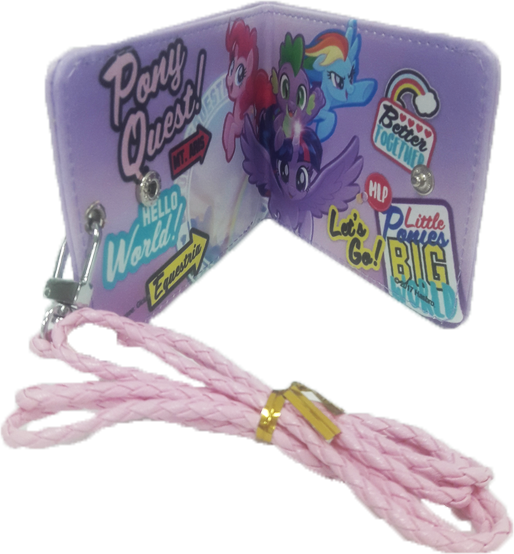 My Little Pony Slim Wallet with Lanyard - Purple