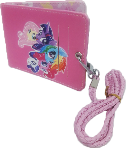 My Little Pony Slim Wallet with Lanyard - Pink