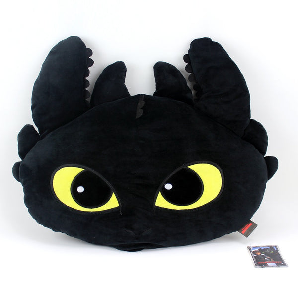 Dreamworks Toohless Black Dragon Shaped Cushion