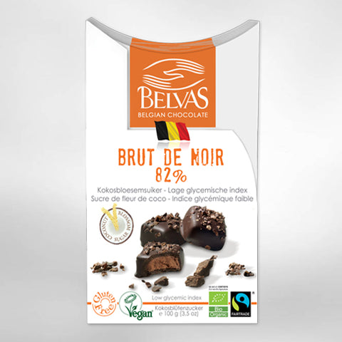 Brut de Noir 82% - with coconut blossom sugar - 100g