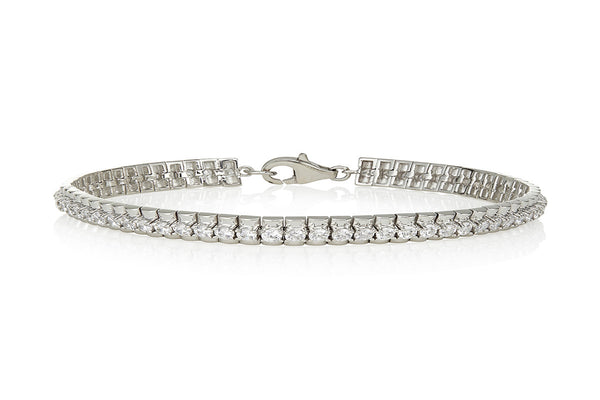 Four claw tennis bracelet with a wide base (4.60ct)