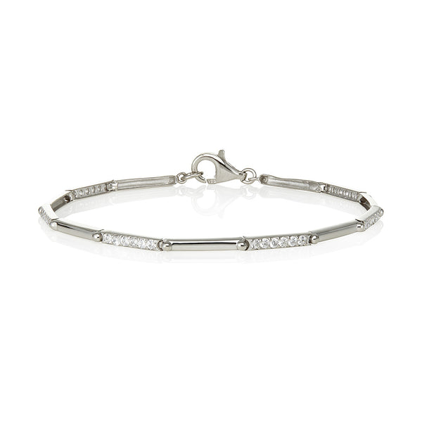 Grain set bars and plain bar bracelet (1.00ct)