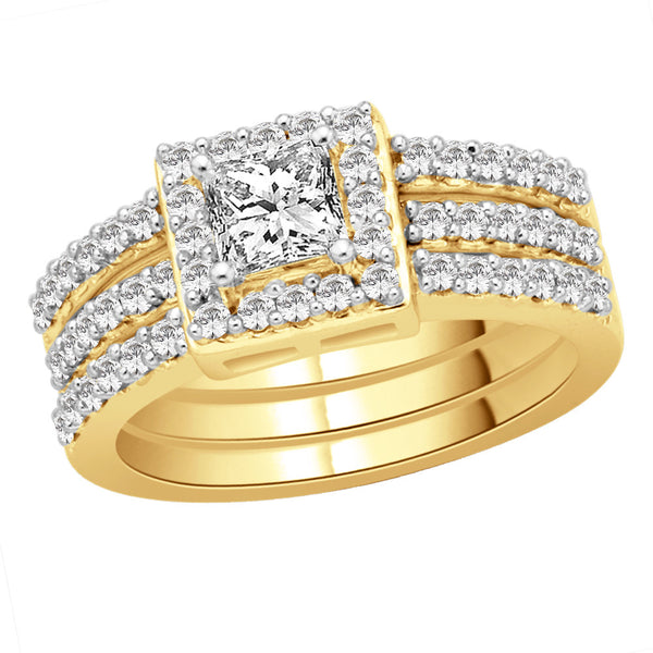 Double Band Complete Bridal Set
