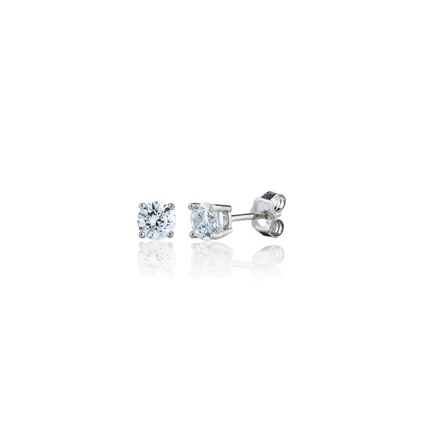 Single Stone Four Claw Stud Earrings (1.00ct)