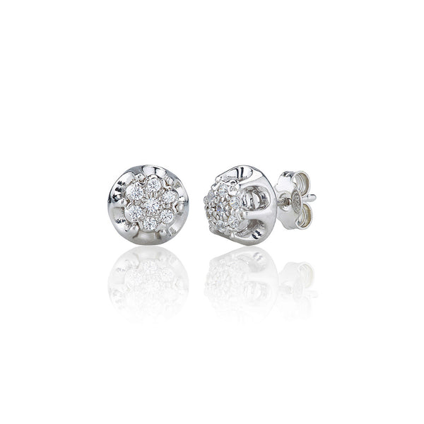 Antique Cluster Stud Earrings (0.25ct)