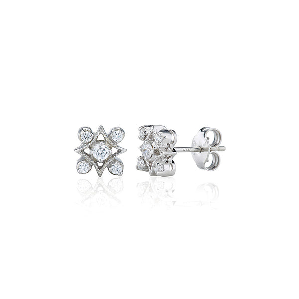 Fancy Antique Style Stud Earrings (0.35ct)