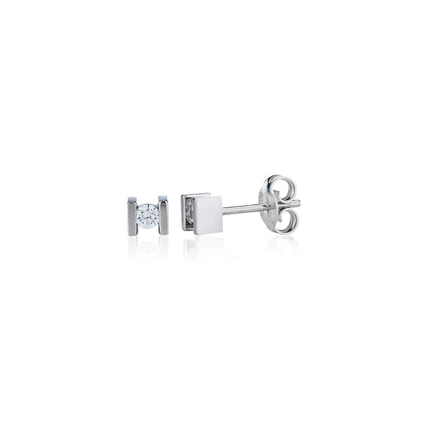 Bar Set, Single Stone Stud Earrings (0.20ct)