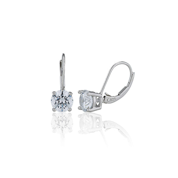 Single Stone Continental Earrings (2.00ct)