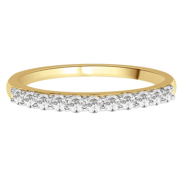 0.33ct Clawset Half Eternity Ring