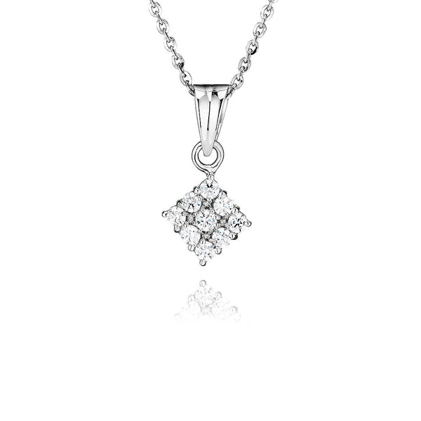 Square Shaped Cluster Pendant (0.50ct)
