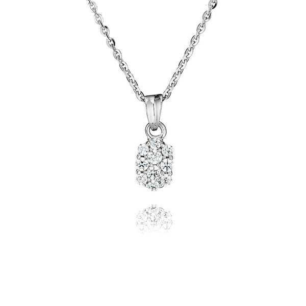 Oval Shaped Cluster Pendant (0.40ct)