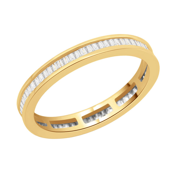Channel Set Vertical Baguette Full Eternity Ring