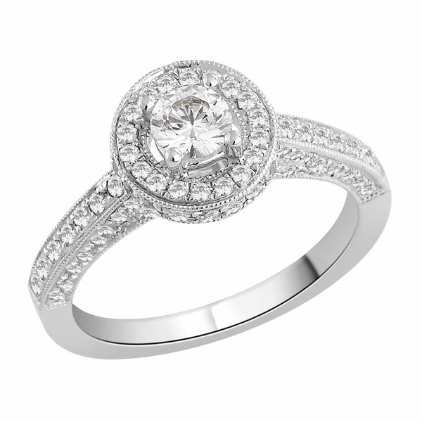 Round Set Engagement Ring