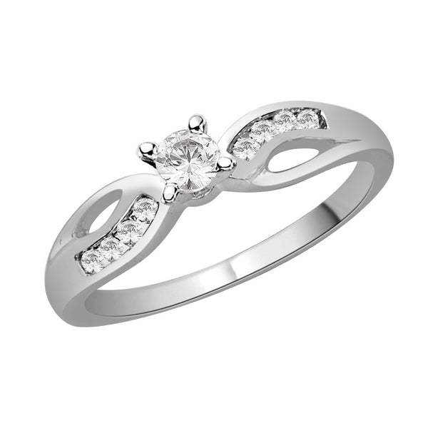 Alternate Stone Band Engagement Ring