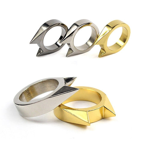 Justice Cat Self Defense Finger Ring Set