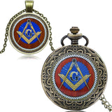 Freemasonry Pocket Watch & Necklace Set + FREE SHIPPING