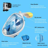 Full Face Snorkeling Mask With Action Camera Mount + FREE Shipping