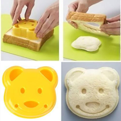 HOT! Sandwich Toast Bread Mold Maker Bear Shape Tool - Free Shipping!