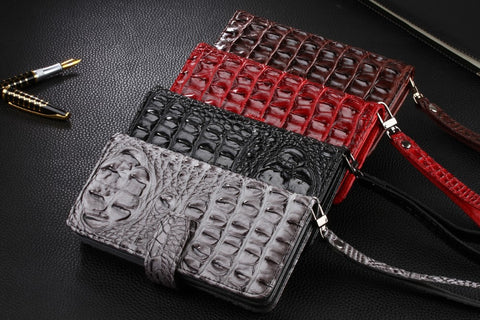 Luxury Crocodile iPhone Flip Wallet