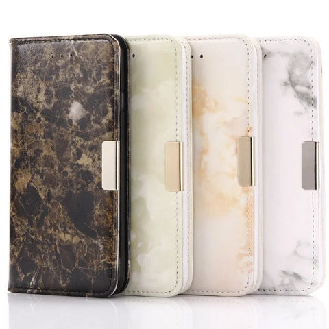 Marble Wallet Flip Stand Cover for iPhone + Free Shipping