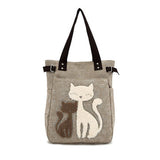 Cute Cats Canvas Tote Shoulder Hand Bag + FREE SHIPPING!