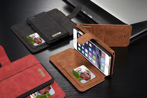 Retro Leather Magnetic iPhone Wallet + Free Shipping