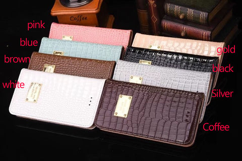 Luxury Crocodile Wallet Case for iPhone / Samsung With LOGO - FREE SHIPPING!