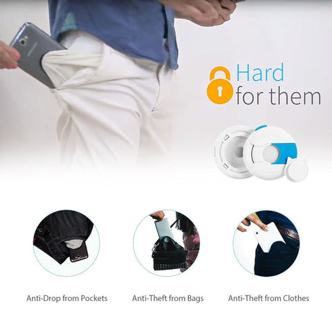 B-Safe Anti-drop Anti-theft Mobile Phone Pocket Lock - FREE SHIPPING!