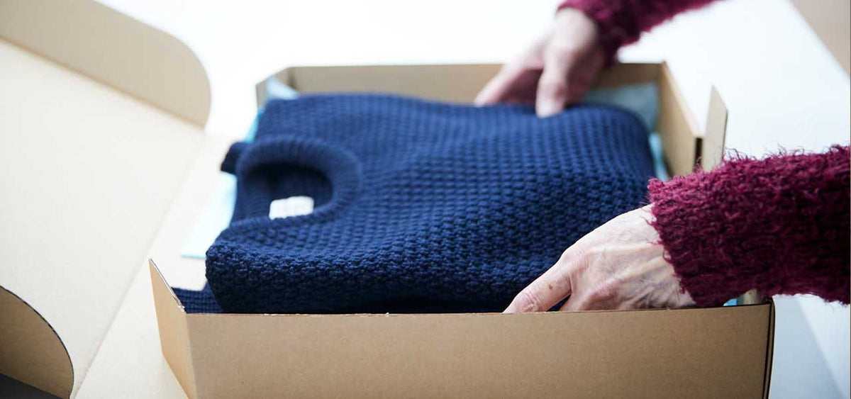 Knitwear packaging and fulfillment
