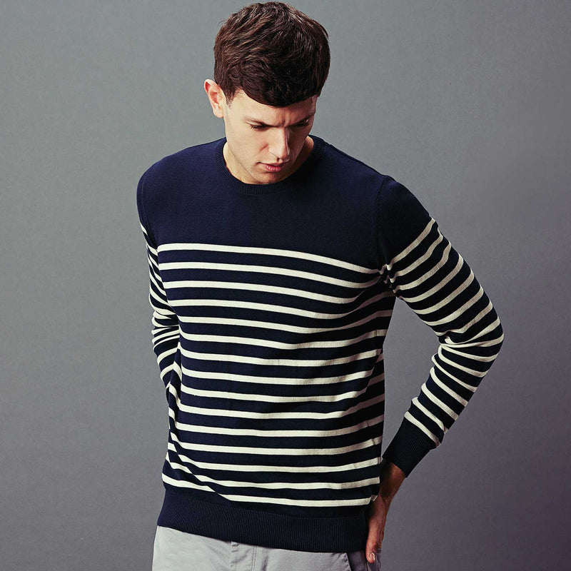 Mens cotton breton jumper