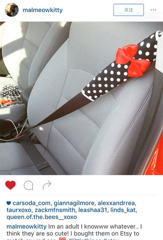polka dots seat belt cover