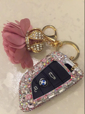 bling bmw car key holder