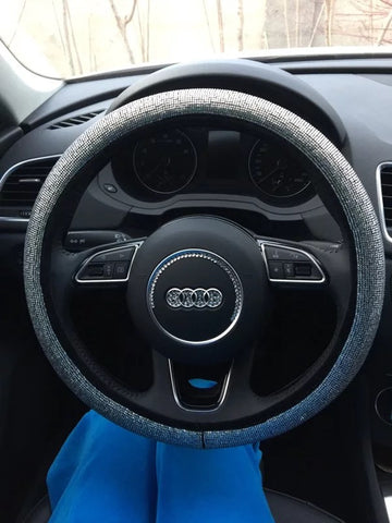 Audi Bedazzled Steering Wheel Cover