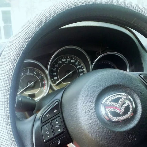 MAZDA Bedazzled Steering Wheel Cover
