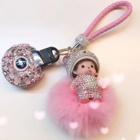 Bedazzled Mini Cooper F54 F55 Key Holder