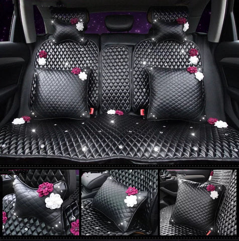 Bone Shaped Car Headrest Pillow Cushion with Rosa