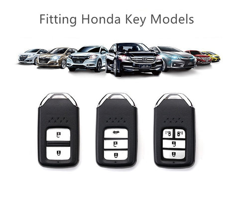 Pink Bling Car Key Holder With Rhinestones And Flowers For Honda