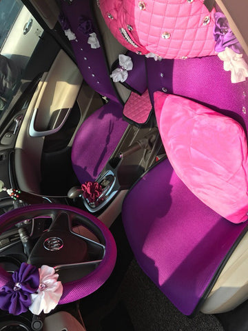 purple cute car accessories
