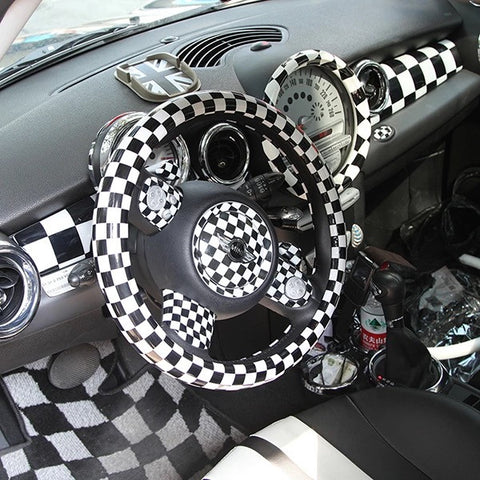 mini cooper checker interior