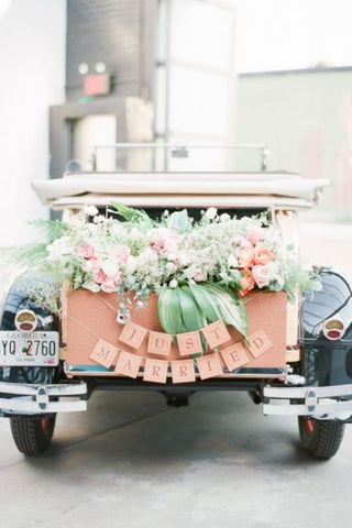 Just married wedding car decoration