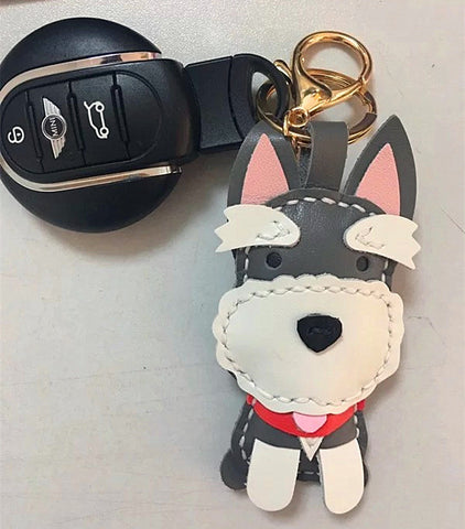 Personalized Schnauzer Keyring Custom Dog key ring Dog Key chain