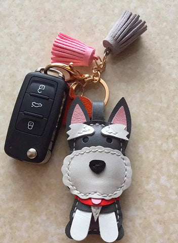 Schnauzer Keyring Custom Dog key ring Dog Key chain
