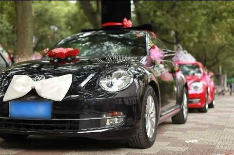 wedding car with beautiful decorations images