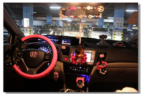 bling car interior pink