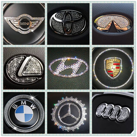 Bling steering wheel LOGO