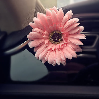 Bling Your Ride-Big Pink Daisy Car Air Vent Decoration - Carsoda
