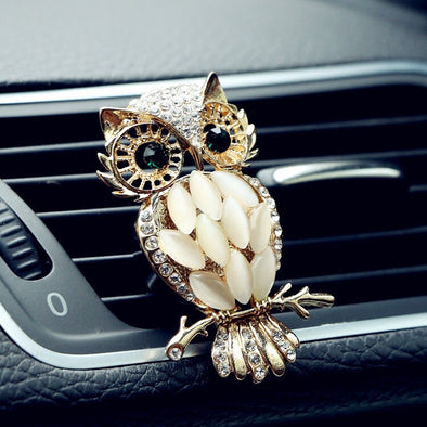 Bling Rhinestones Owl Car Air Vent Decoration with Freshener DIY clip
