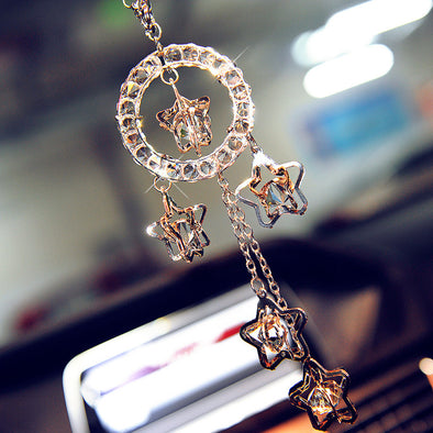 Car Charm Ornaments-Bling Lucky Crystal Charms for Rearview Mirror - Carsoda - 1